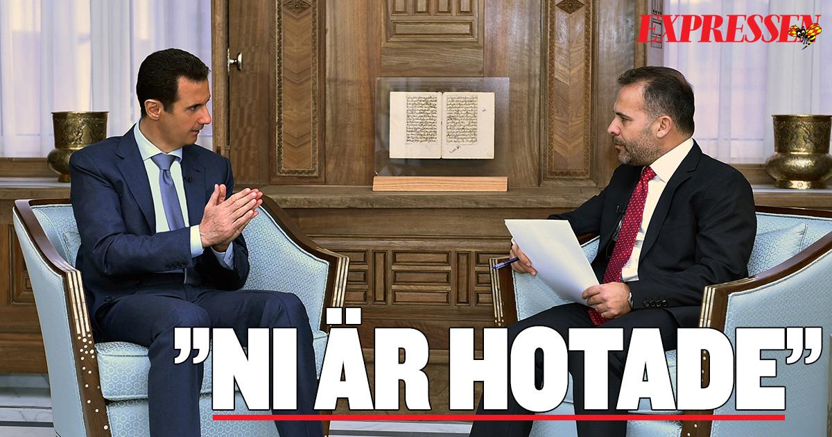 Bashar al assad varnar omvarlden